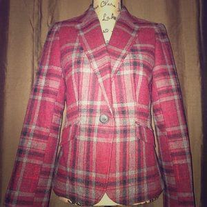 Talbots plaid jacket. Size 4, wool.
